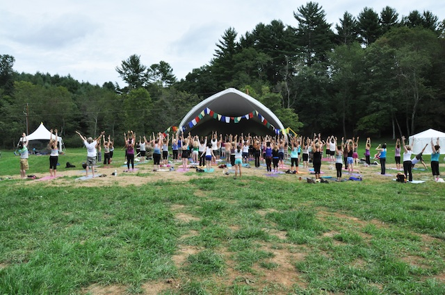 yoga tents overflow with love