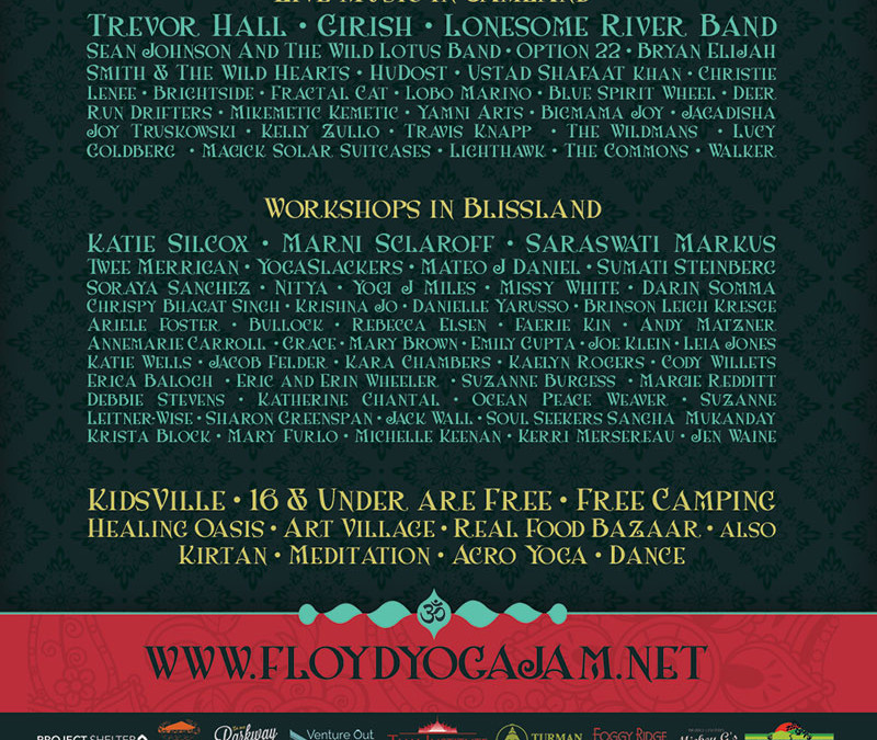 ANNOUNCING THE FLOYD YOGA JAM LINEUP